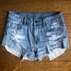 AE Distressed Denim Shorts